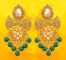 Indian Bollywood Christmas Fashion Jhumka Jhumki Earrings Wedding Women Jewelry