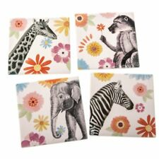 Sass & Belle - Safari Coasters 4 Pack Homeware Xmas Gift Stocking Filler