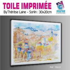 TOILE IMPRIMEE 30x20 cm - IMPRESSION SUR TOILE - TM-01- PAYSAGE MONTAGNE NATURE