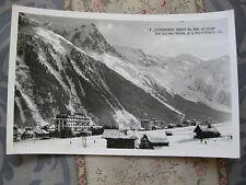 CPA 1950 1960 Chamonix Mont-Blanc Vue sur les Hôtels et Mont-Blanc Haute-Savoie