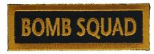 Bomb Squad Public Safety Bomb Disposal PSBD Iron on Hat Shoulder Patch F1D14L
