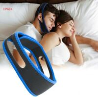 2 pcs Anti Snore Chin Strap Stop Snoring Sleep Apnea Belt Jaw Support solution