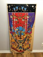 Bally NBA Fastbreak Basketball Pinball Machine Used Playfield. Retro Wooden Art
