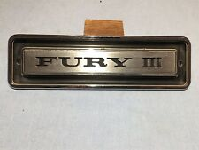 1969 PLYMOUTH FURY III FRONT FENDER EMBLEM-NAMEPLATE PART #2902168
