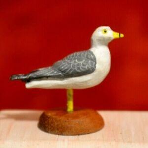 Miniature Duck Dollhouse 1:12 Decoy Ring billed Gull Artist Made D Guy
