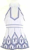 KAREN MILLEN Womens Vest Top Blouse UK 6 XS White Cotton  LB01