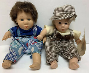 """Lot 2 Boys Palm Pals Bean Bag Kids Funny Face Expressions DOLL 8"""" 1 Has Tags!"""