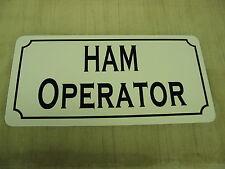 HAM OPERATOR Metal Sign 4 Antenna Tower Receiver Transmitter Shortwave Vehicle