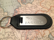 JAGUAR Key Ring Blind Etched On Leather XF XJ XK F TYPE 1