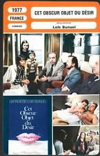 CET OBSCUR OBJET DU DESIR - Bouquet,Rey,Bunuel (Fiche Cinéma) 1977