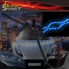"24"" Neon Blue Rubber Led Strip for Cars Boats Motorcycles & Parties (1-piece)"