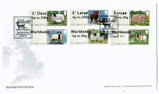 SHEEP Post & Go BATH/STAMPEX FDC 24/02/12 RARE LARGE FONT COLLECTORS STRIP 6