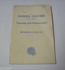 Instrucciones Servicio Manual Morris Oxford Serie V+Vi , Stand 11/1963
