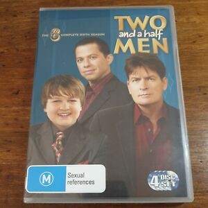 Two and a Half Men DVD Complete Sixth Season 6 R4 LIKE NEW FREE POST