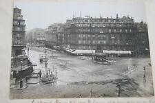 PARIS 1910 INONDATIONS PLACE DE ROME RUE SAINT LAZARE METRO OLD PHOTO VINTAGE