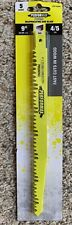 "5 Lot Of 9"" Wood Pruning Saw Blades For Recipricating Saws, Trees, Shrubs"