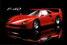 FERRARI F-40 - SPORTS CAR POSTER - 24x36 SHRINK WRAPPED - RED 3724
