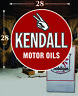 """(1) 28"""" x 28"""" KENDALL Shield Gas Vinyl Decal Lubester Oil Pump Can Lubster"""