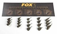 NEW Fox  Camotex Carp Fishing Coated Leads Inline & Swivel x5 All Types & Sizes