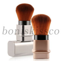 2pcs Portable Telescopic Travel Blush Powder Kabuki Brush Foundation Makeup Tool