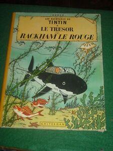 Les Adventures De Tintin Le Tresor de Rackman Le Rouge French Herge 1947