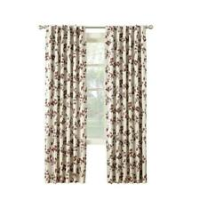 """1 ALLEN ROTH SPICE Floral Curtain Drapery Thermal Lined Back Tab Panel 52""""x 84"""""""