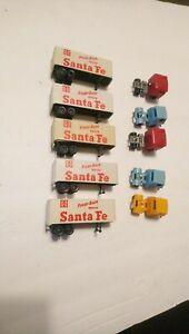 Tyco HO Train Lot 5 Santa Fe Tractor Trailers For Layout/Scenery/Flatcars