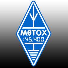 Indicativo di chiamata & FREQ adesivo Diamond Logo riflettente blu e bianco Ham Radio amatoriale