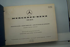 Mercedes 230 SL Owners Parts Manual Service W 113  original used 1967 1966 1965
