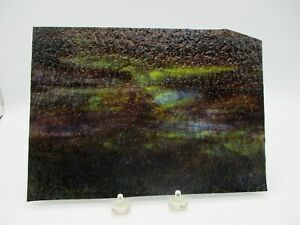 """Multi-Colored Kokomo Streaky Granite Stained Glass Sheet Approx. 7'' by 10"""""""