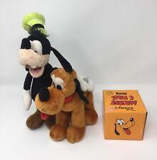 Goofy and Pluto Plush Soft Toys Disney Store + Mickey Mouse & Pals Pluto Mug