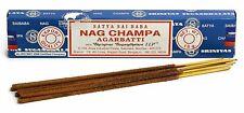 6 Packs Original Satya Sai Baba Nag Champa Incense Sticks Joss Insence Genuine