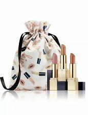BNIB Estee Lauder Sculpted Lips Set: Pure Color Envy 3 Full Size Lipsticks + Bag