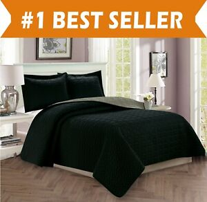 Bedspread Coverlet Quilted Set with Sham All Season Heavy Weight