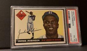 1955 Topps #50 Jackie Robinson Brooklyn Dodgers HOF PSA 4 VG-EX