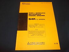 MITSUBISHI S4K DIESEL ENGINE PARTS BOOK MANUAL FOR WS500A WHEEL LOADER
