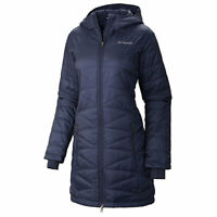 Columbia Mighty Lite Hooded Mid Insulated OMNI Heat Jacket Blue Women's Coat