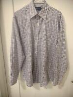 RALPH LAUREN POLO Plaid Button Long Sleeves Shirt Men Size 16 32/33