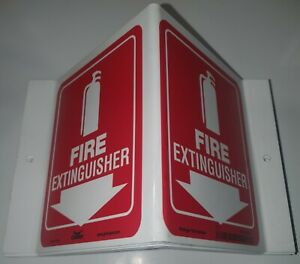 Condor 480Z35 High Visibility Fire Extinguisher Safety Sign