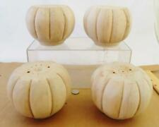 New Old Stock Four (4) Furniture Carved Pumpkin Bun Feet Foot