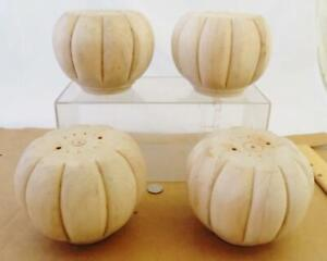 New Old Stock Four (4) Furniture Carved Pumpkin Bun Feet Foot
