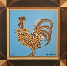 Mady of the Hotel - Rare Print on Wood - Lithograph - the Rooster