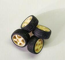 Cerchi wheels Oz Racing  4 fori + pneumatici 1/18 Rally Norev Ottomobile
