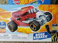 Hot Wheels BONE SHAKER ⭐ MEGA Construx Red Mattel/MEGA brands skull Rat Rod VHTF