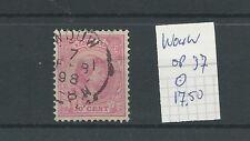 "KLEINrond ""WOUW 7-feb-1898"" op 37  VFU/gebr  CV 17,5 €"