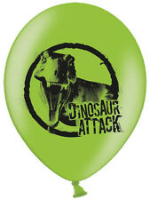 "6 x 11"" Dinosaur Birthday Party Decoration Double Sided Latex Balloons"