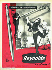 PUBLICITE ADVERTISING 125  1960  Reynolds  stylo bille photo Henri Guilbaud