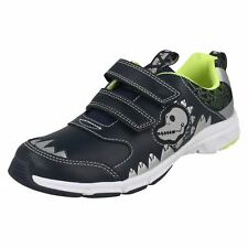 Boys Clarks Pass Rex Dinosaur Themed Trainers