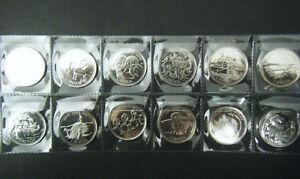 1999 Canada Millennium 12 coin set Quarter 25 cent 25c Canadian Uncirculated BU