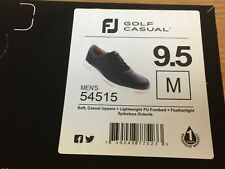 FootJoy FJ Golf Casual Spikeless Black Golf Shoes # 54515 - 9.5 Medium - New